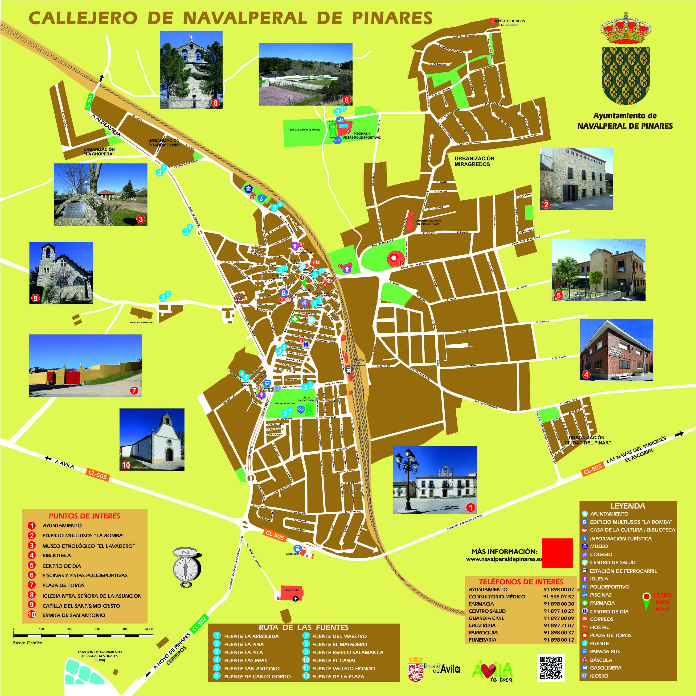 Mapa Turistico De Avila.Callejero Ayuntamiento De Navalperal De Pinares