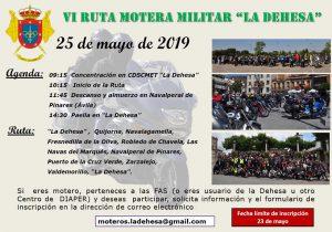 Concentración de la VI Ruta Motera Militar La Dehesa @ Plaza Mayor - Navalperal de Pinares