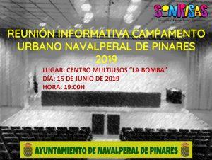 Reunión Informativa Campamento Urbano 2019 @ Edificio Multiusos - Navalperal de Pinares