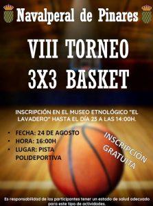 VIII Torneo 3x3 de Basket @ Parque Municipal - Navalperal de Pinares