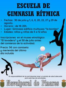 Escuela de Gimnasia Rítmica 2019 @ Edificio Multiusos - Navalperal de Pinares