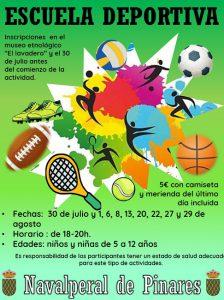 Escuela Deportiva 2019 @ Parque Municipal - Navalperal de Pinares