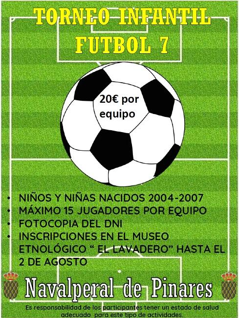Torneo Infantil de Fútbol 7 @ Parque Municipal - Navalperal de Pinares