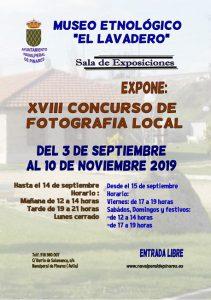 Exposición XVIII Concurso de Fotografía @ Museo Etnológico El Lavadero