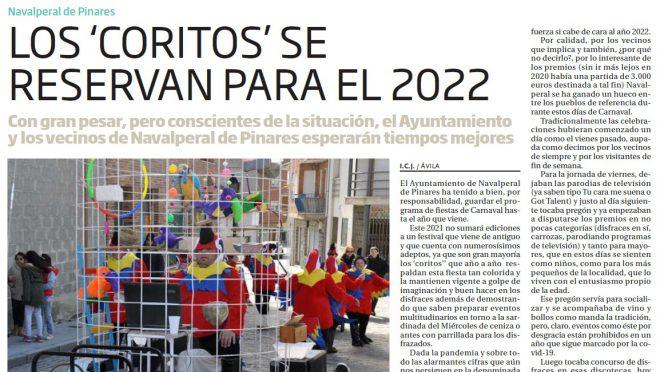 Los Carnavales de Navalperal de Pinares en el recuerdo del Diario de Ávila